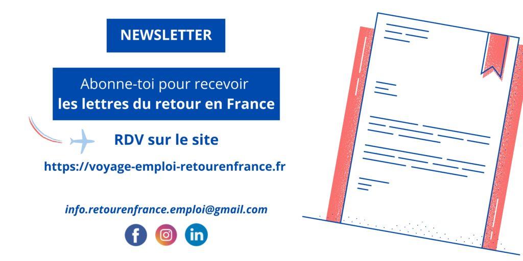 S'abonner à la newsletter de voyage, emploi et retour en France