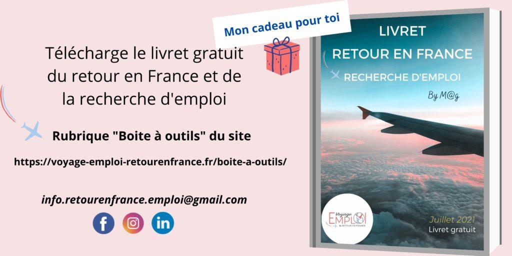 Télécharger le livret gratuit du retour en France et de la recherche d'emploi
